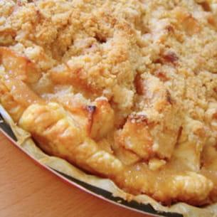 tarte aux pommes façon crumble