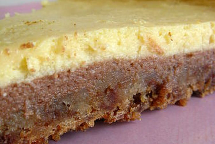 Cheesecake à la crème de nougat et au Nutella