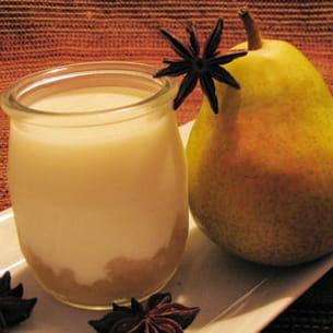 yaourt à la compote de poires anisée