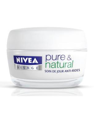 pure & natural soin de jour anti-rides de nivea