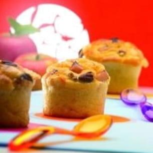 muffins au beaufort, pommes et noix