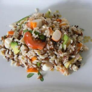 salade de riz au surimi et aux avocats