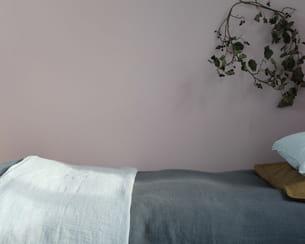 jeté de lit de linge particulier