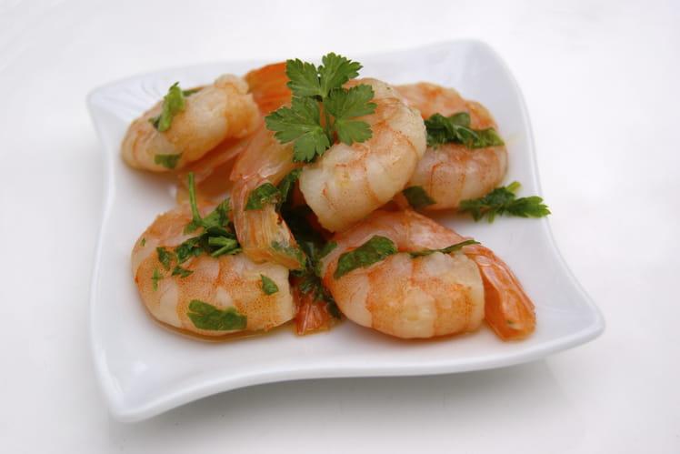 Crevettes marinées à l'huile d'olive et au citron