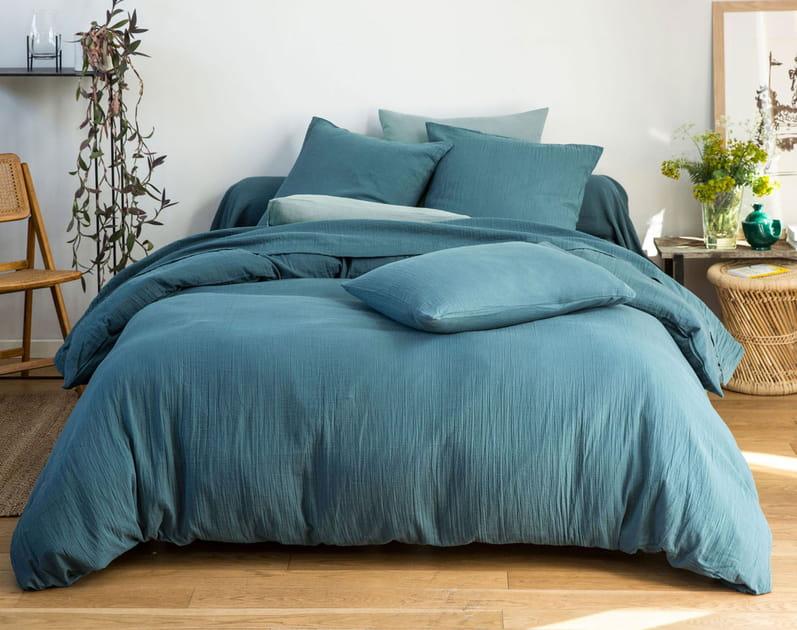 Du linge de lit en gaze de coton