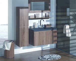 salle de bains en ch ne massif de cocktail scandinave. Black Bedroom Furniture Sets. Home Design Ideas