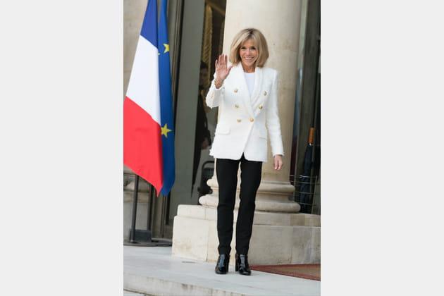 Brigitte Macron le 21février 2018