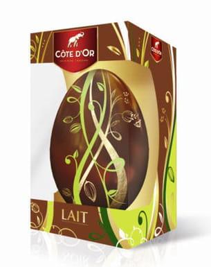 Œuf décoré chocolat au lait côte d'or