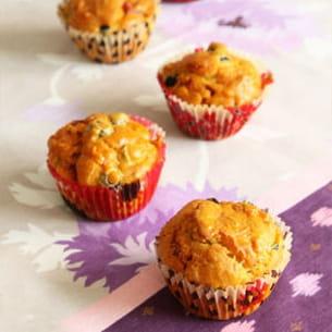 muffins ou cakes salés au chorizo et aux olives