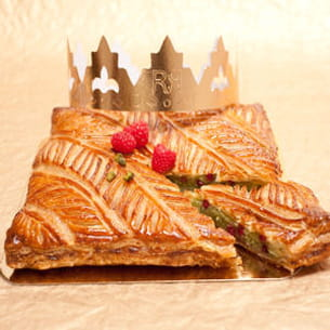galette framboise-pistaches d'eric kayser