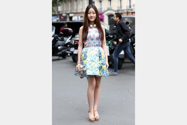 Street looks fashion week haute couture : floral