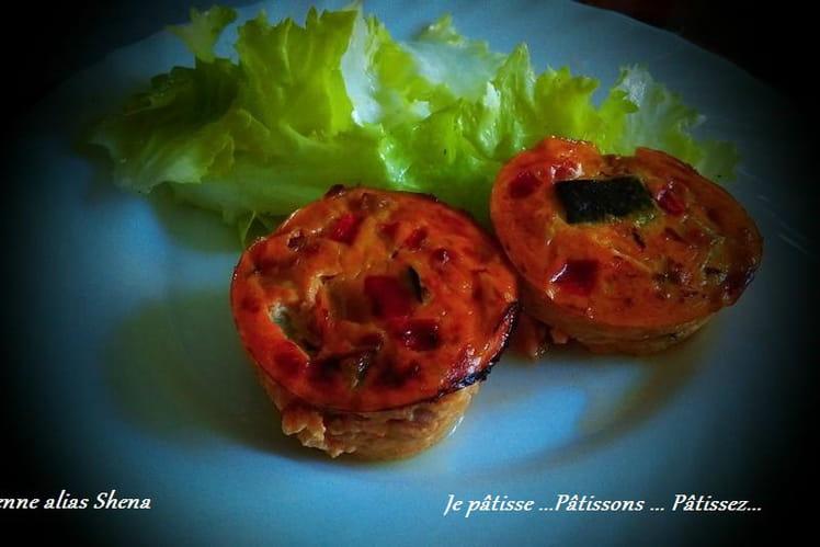 Flan provençal à la ratatouille, lardons et gruyère
