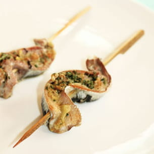 brochettes de sardines au curry