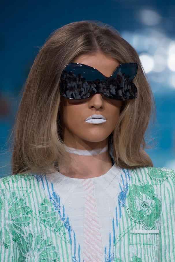 Les lunettes abstraites du défilé Thom Browne