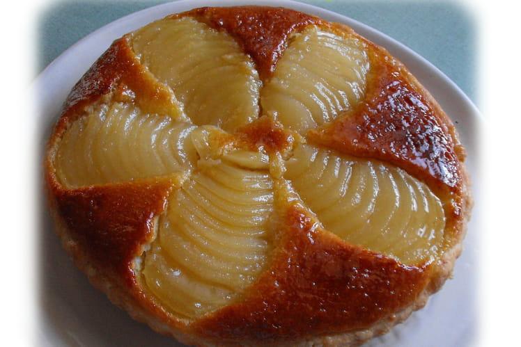 Tarte amandine aux poires et crème d'amandes