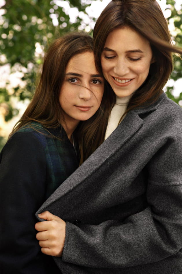 Charlotte gainsbourg et sa fille alice attal for Dans vos airs charlotte gainsbourg