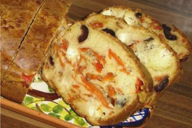 Cake Aux Olives Noires Et Feta