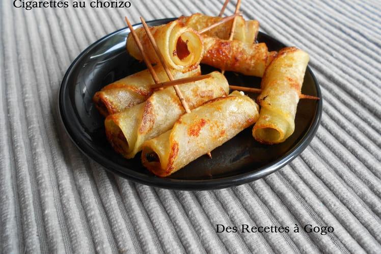 Cigarettes de pomme de terre au four et chorizo