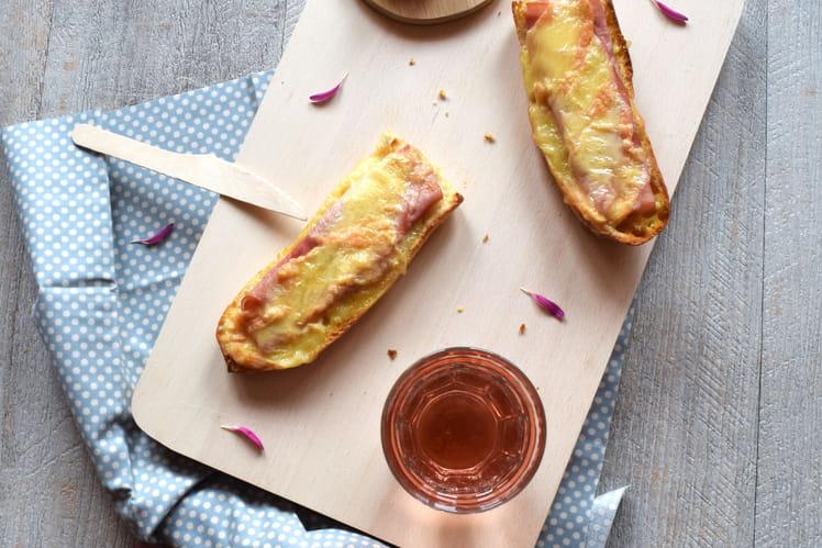 Baguette gratinée jambon-fromage