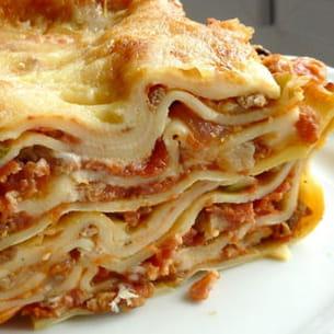 lasagnes gratinées à la scamorza