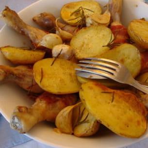 pilons de poulet au lard