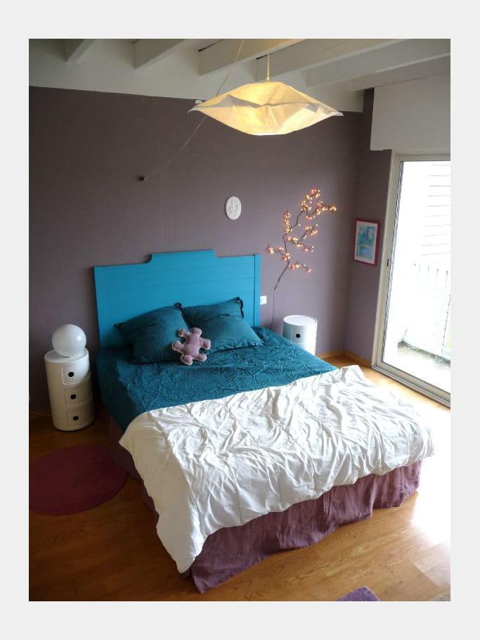 Une t te de lit de couleur vivifiante comment faire une - Comment fabriquer une tete de lit ...