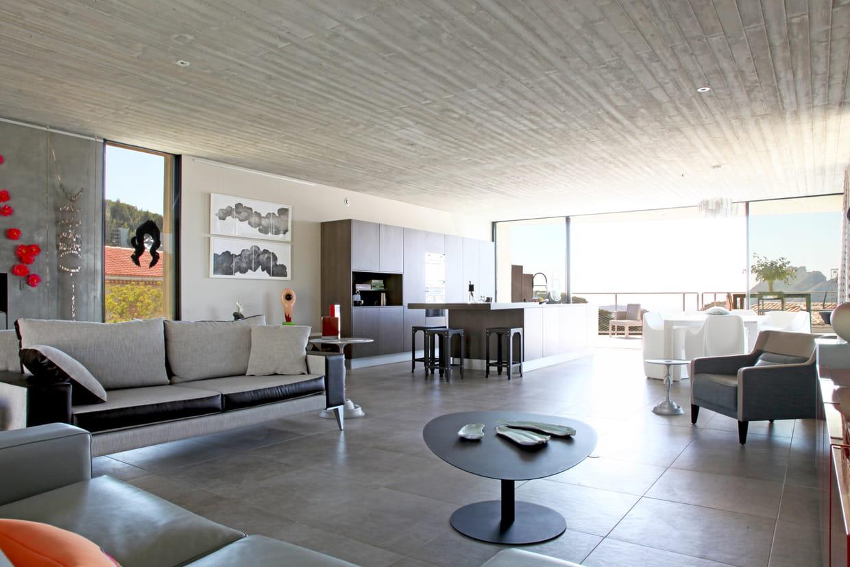 Pi ce vivre de style contemporain for Plan piece a vivre 40m2