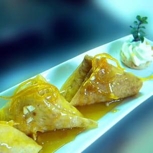 crêpes rotschild au caramel d'orange