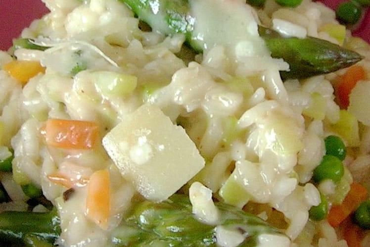 Risotto aux asperges vertes et au parmesan - Cuisiner les asperges vertes ...