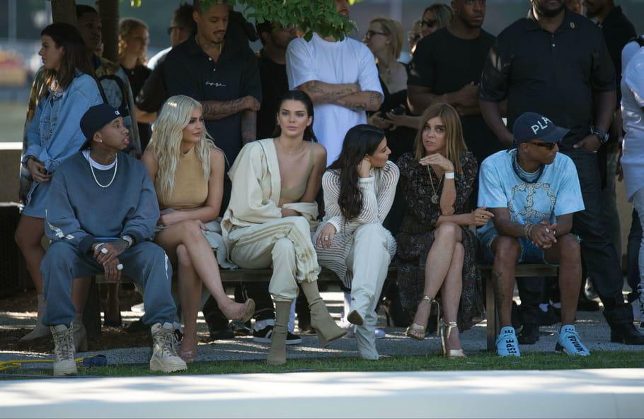 Tyga, Kylie Jenner, Kendall Jenner, Kim Kardashian, Carine Roitfled et Pharrell Williams