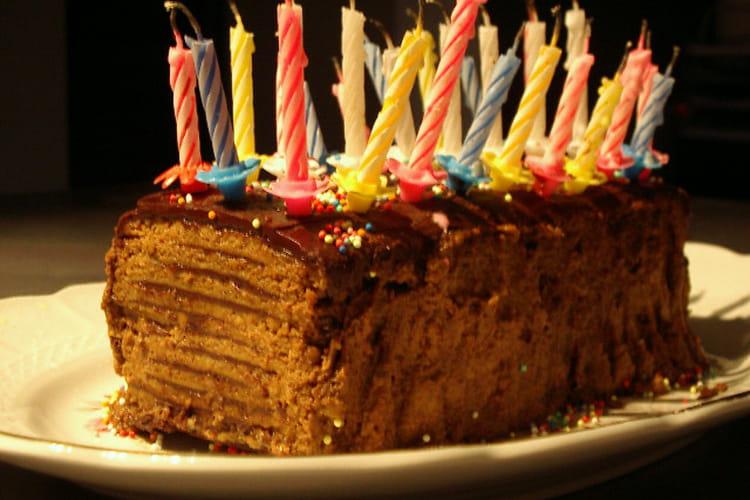 Gâteau chocolat-Thé brun