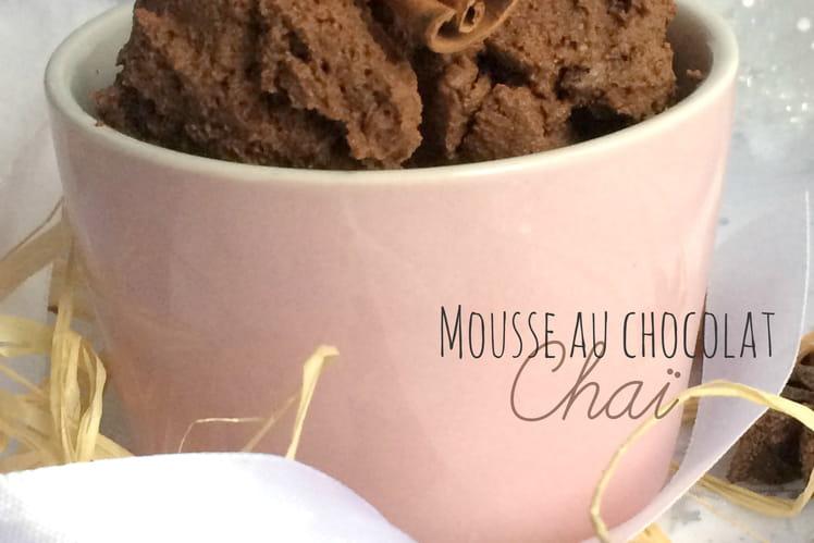 Mousse au chocolat Chaï sans beurre sans sucre ni jaune d'oeuf