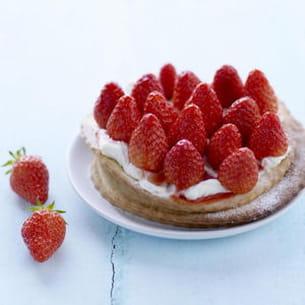 tartelette fine aux fraises, mascarpone et vanille