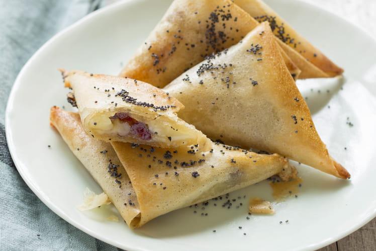Samoussas reblochon-cranberries
