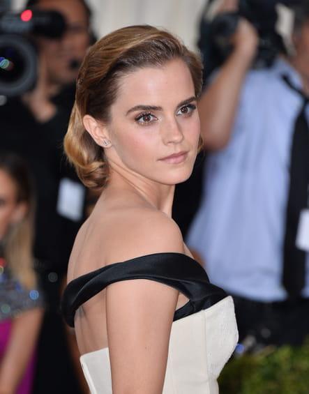 Le carré texturisé d'Emma Watson