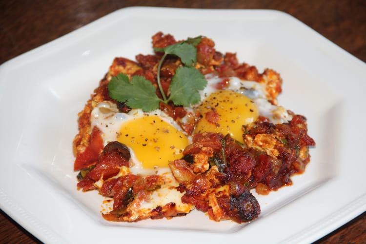 Oeufs à la tomate et au chorizo