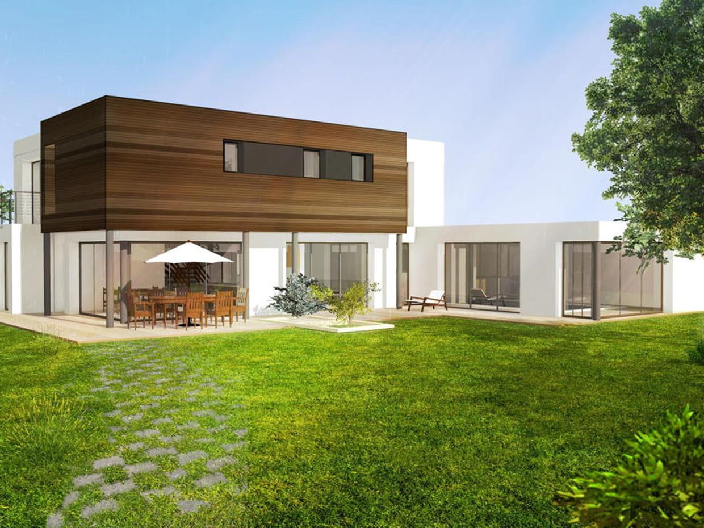 maison avec bardage en bois. Black Bedroom Furniture Sets. Home Design Ideas