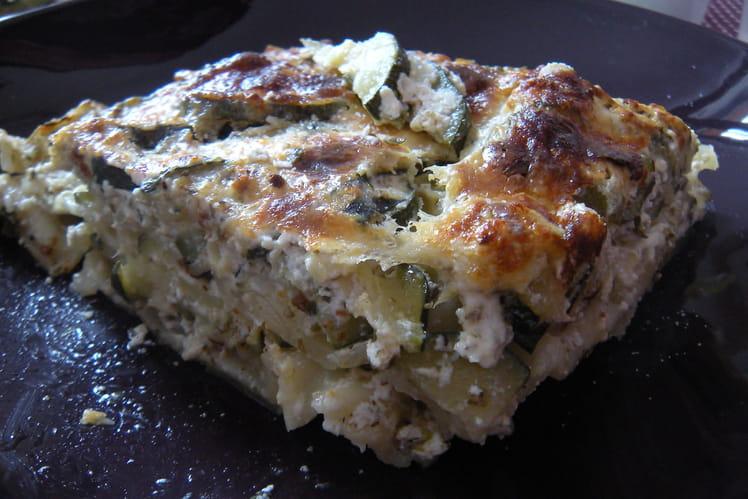 Lasagnes de courgette-ricotta aux herbes oubliées
