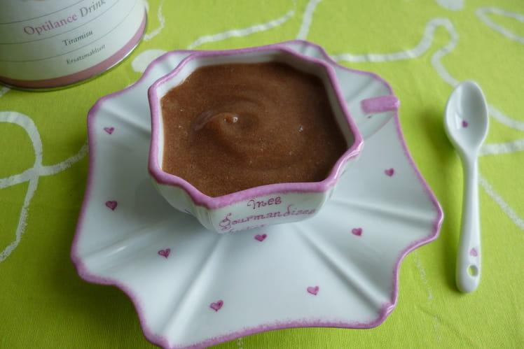 Crème dessert tiramisu au konjac