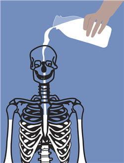 sans la vitamine d l'os ne peut pas absorber le calcium.