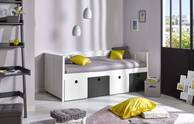 banquette lit suzie de camif. Black Bedroom Furniture Sets. Home Design Ideas