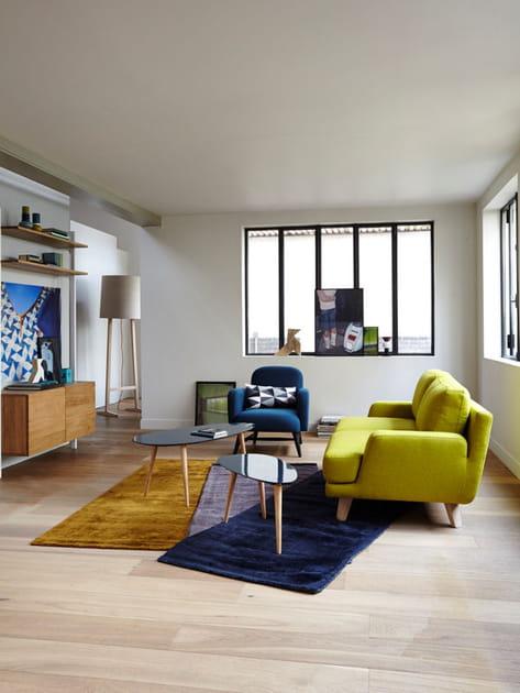Un salon entre modernité et esprit vintage