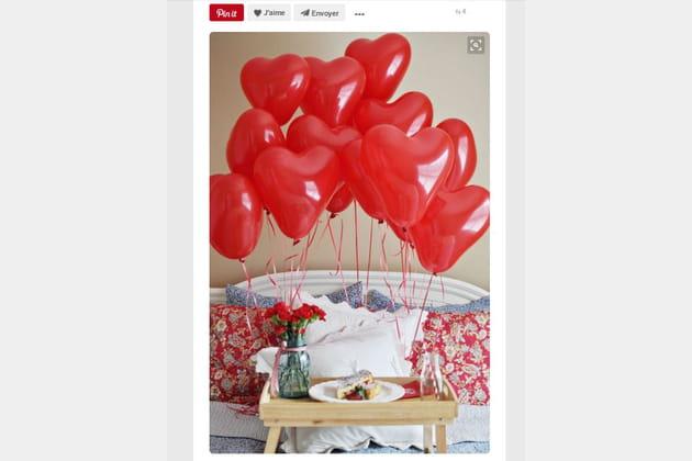 bouquet de ballons coeur. Black Bedroom Furniture Sets. Home Design Ideas