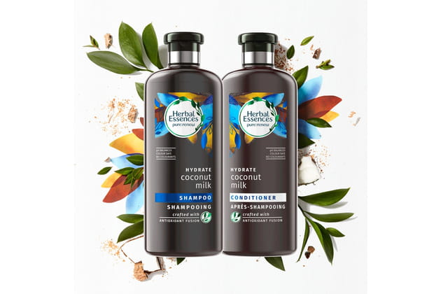 Shampoing et après shampoing au lait de noix de coco Herbal Essences