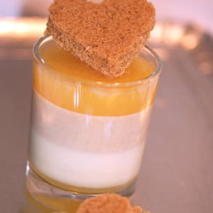 panna cotta orange et pain d'épices
