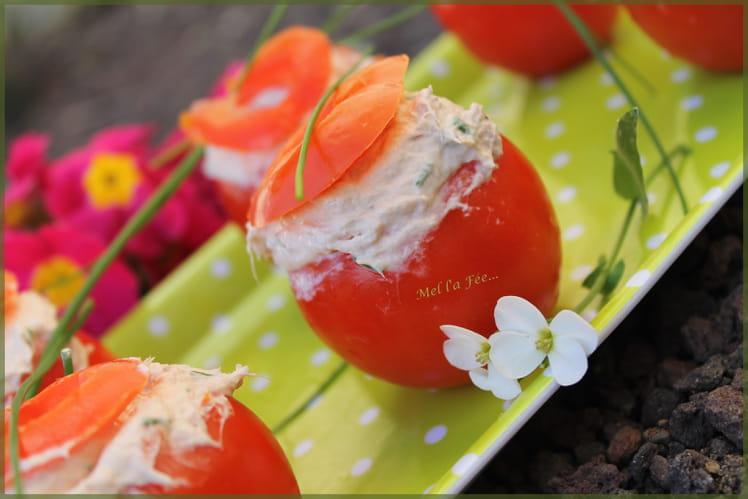 Tomates farcies au thon et mascarpone