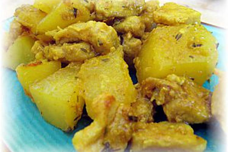 Cari de porc aux pommes de terre