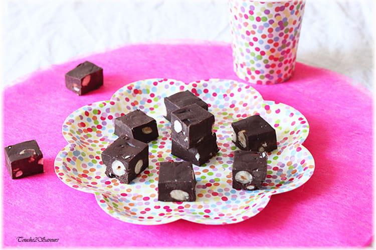 Fudges chocolat amandes noisettes