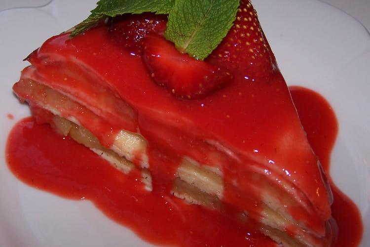 Gâteau au coulis de fraise