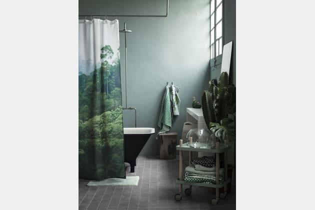La salle de bains verte